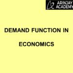 Demand Function In Economics