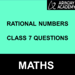 Rational Numbers Class 7 Questions