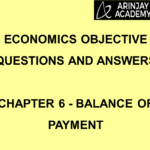 Economics Objective Questions and Answers - Chapter 6 - Balance of Payment