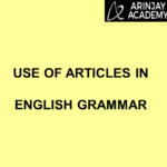 Use of Articles in English Grammar