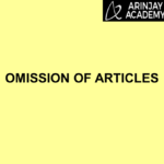 Omission of Articles