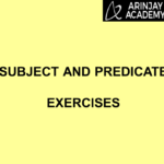 Subject and Predicate Exercises