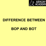 Difference Between BOP And BOT or Difference Between Balance of payment and Balance of trade