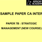 Sample Paper CA Inter - Paper 7B : Strategic Management (New Course)