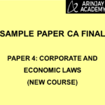 Sample Paper CA Final - Paper 4: Corporate and Economic Laws (New Course)