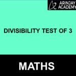 Divisibility test for 3