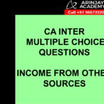 CA Inter Income Tax MCQs - Income From Other Sources