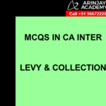 MCQs in CA Inter GST or IDT - Levy and Collection