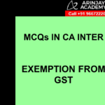 CA Inter MCQs GST or IDT - Exemption from GST
