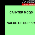 CA Inter MCQs Indirect Tax - Value of Supply