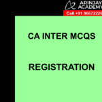 CA Inter MCQs Indirect Tax - Registration