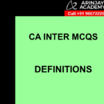 CA Inter MCQs Indirect Tax - Definitions