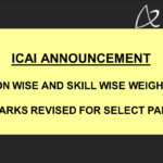 ICAI Announcement - Section Wise and Skill Wise Weightages of Marks