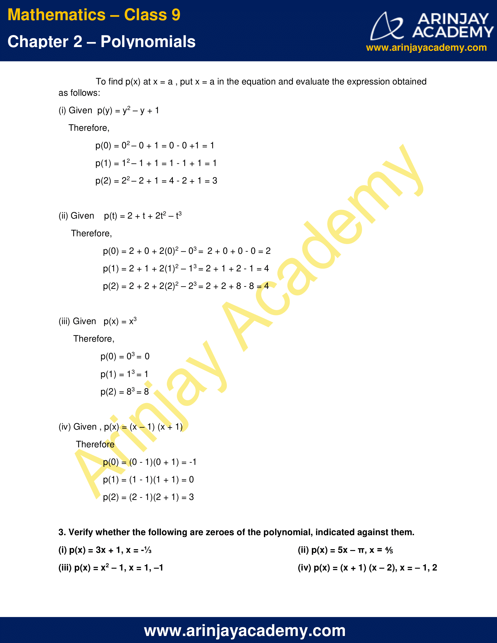 NCERT Solutions for Class 9 Maths Chapter 2 Exercise 2.2 image 2