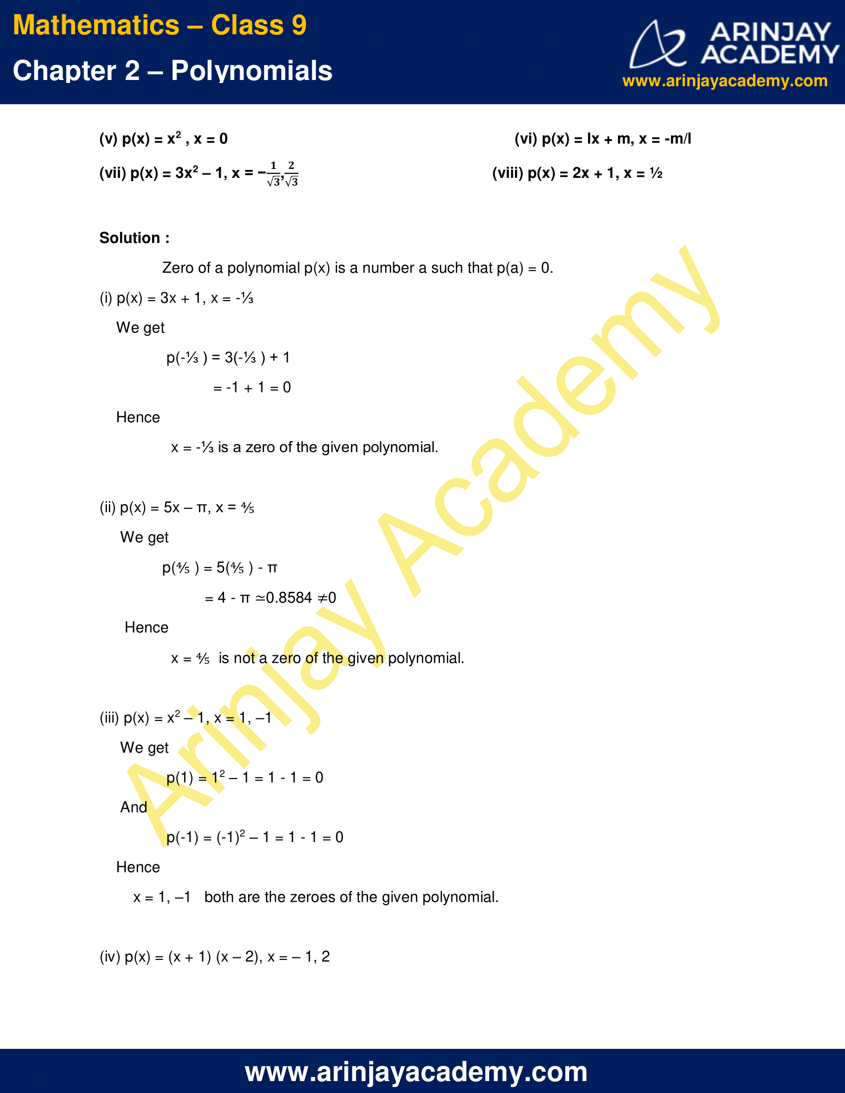 NCERT Solutions for Class 9 Maths Chapter 2 Exercise 2.2 image 3
