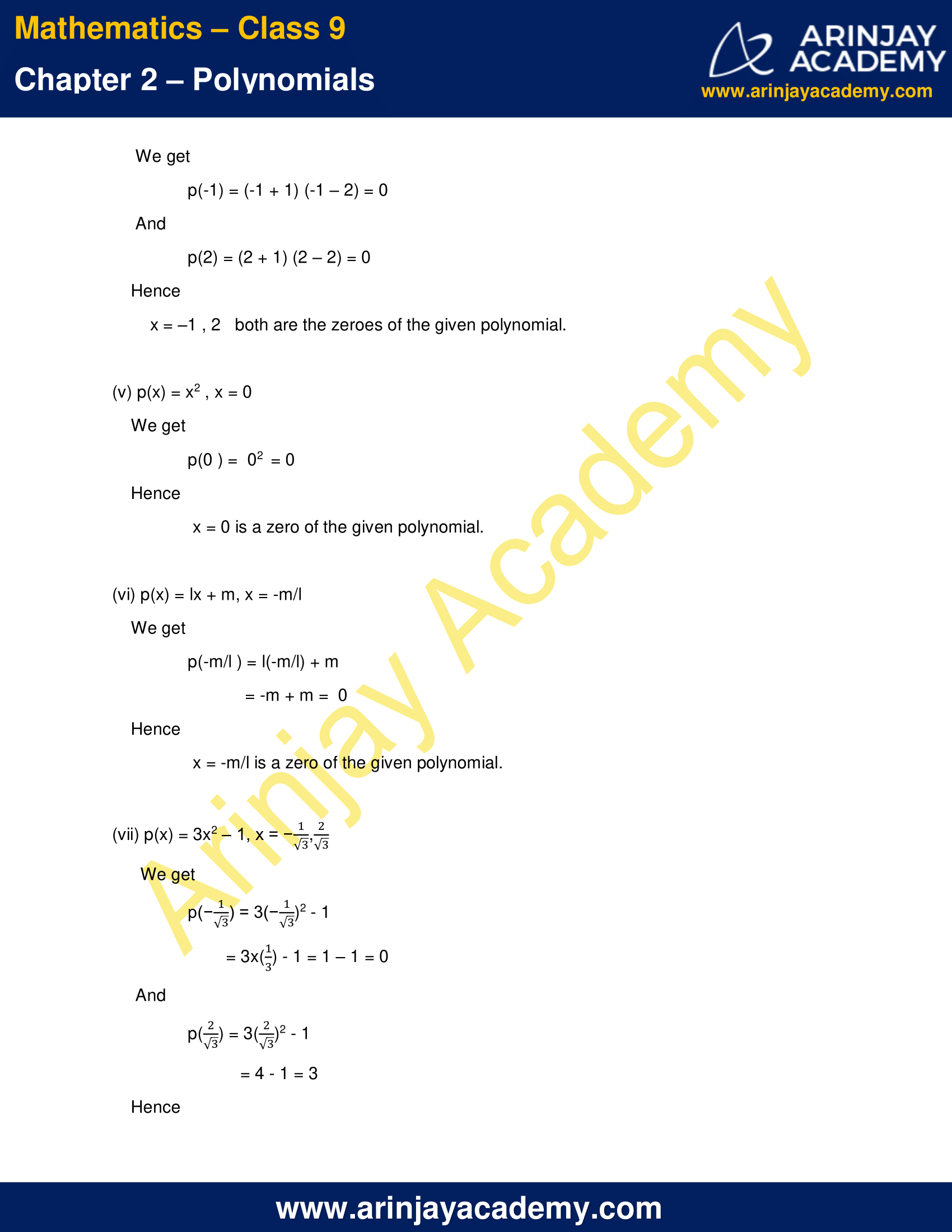 NCERT Solutions for Class 9 Maths Chapter 2 Exercise 2.2 image 4