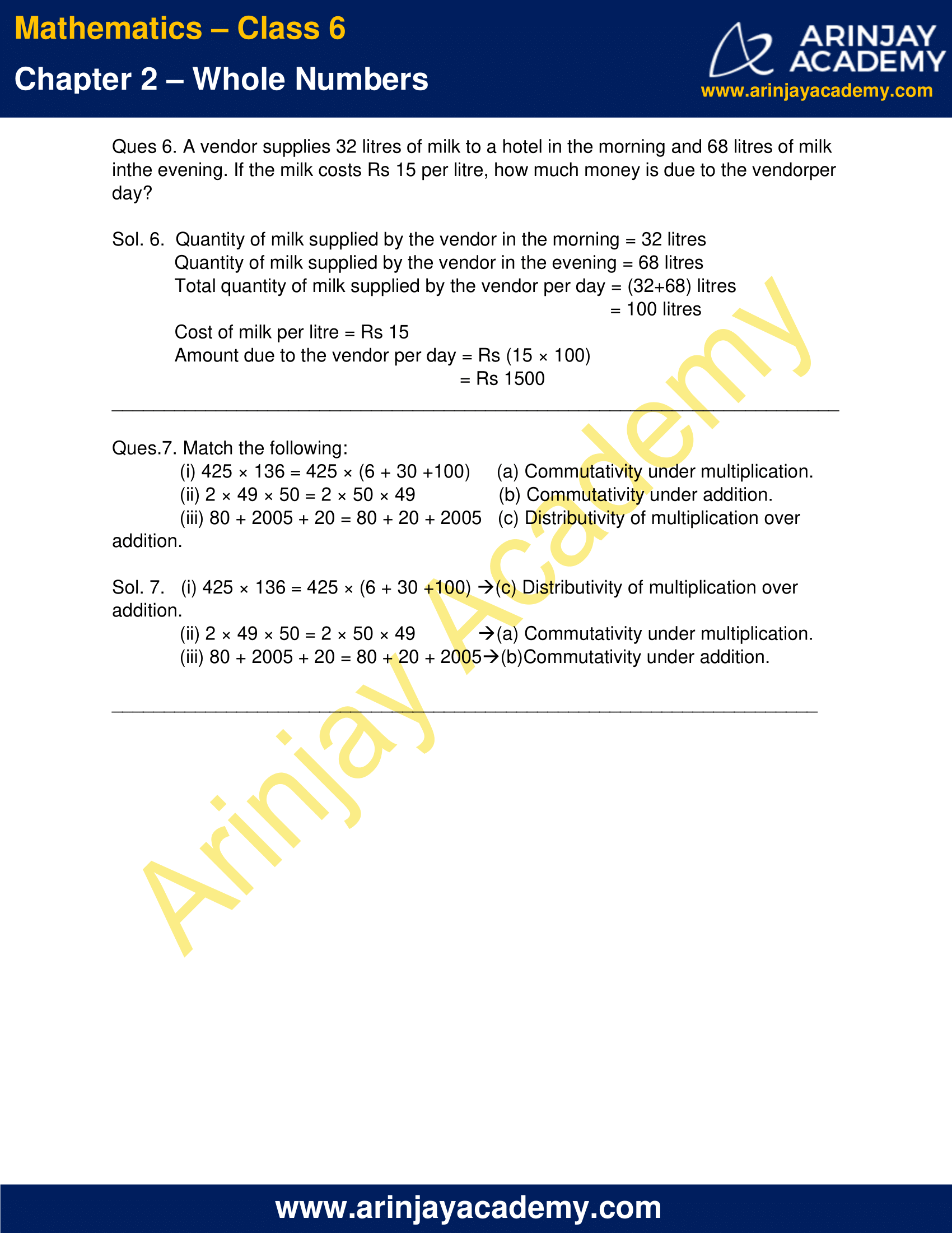 Class 6 Maths NCERT Solutions Chapter 2 Exercise 2.2 image 4