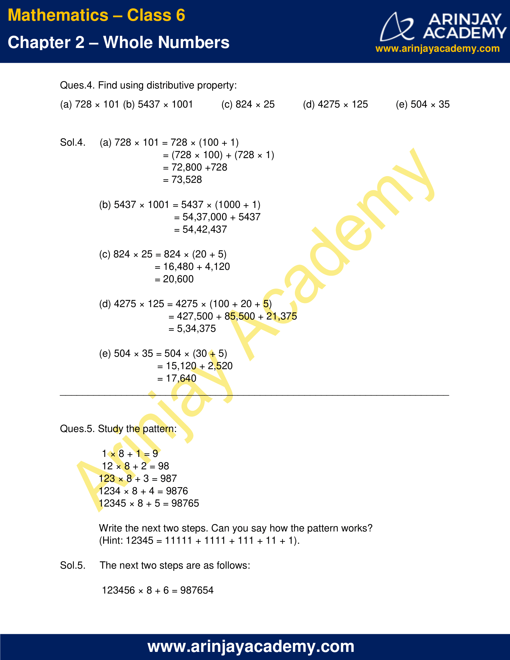 Class 6 Maths NCERT Solutions Chapter 2 Exercise 2.3 image 2