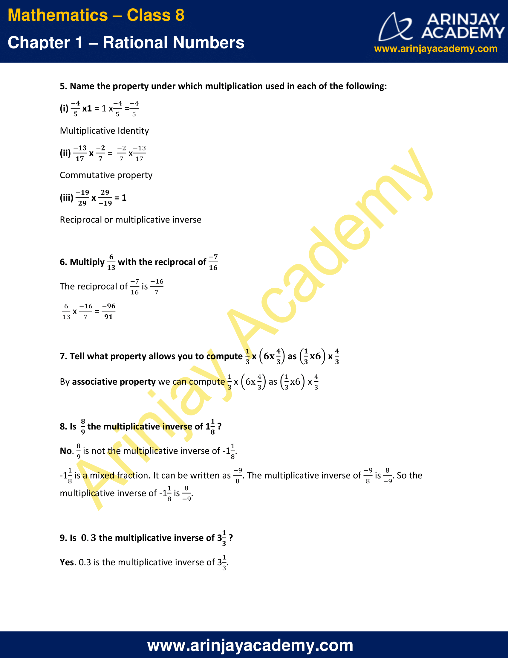NCERT Solutions for Class 8 Maths Chapter 1 Exercise 1.1 image 3