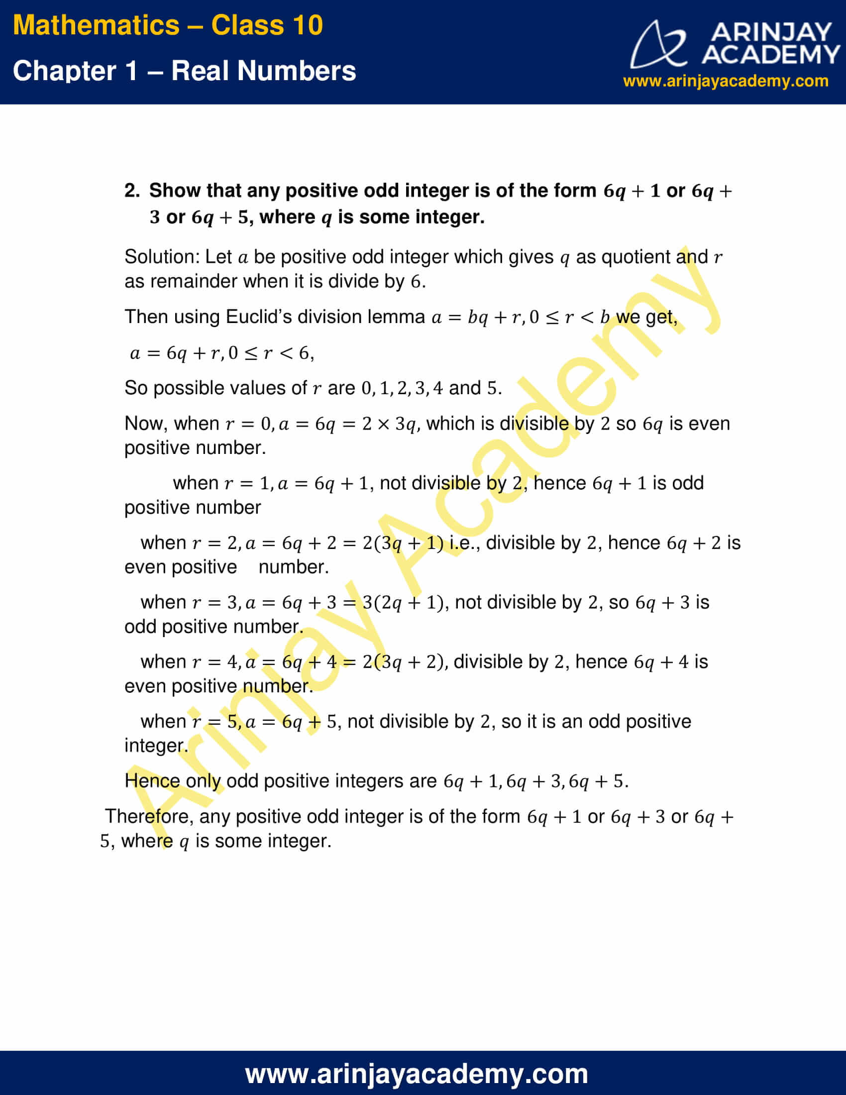 NCERT Solutions For Class 10 Maths Chapter 1 Exercise 1.1 part 2