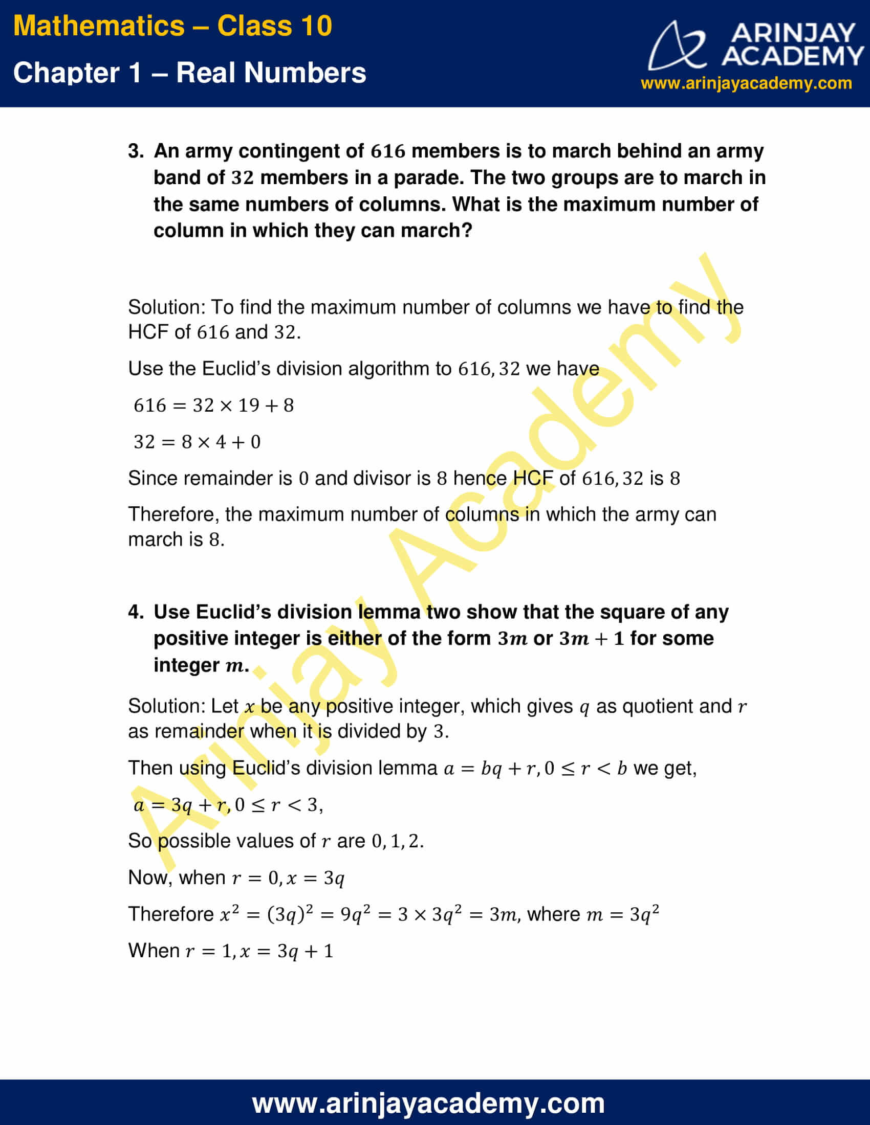 NCERT Solutions For Class 10 Maths Chapter 1 Exercise 1.1 part 3