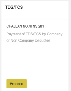 TDS online Payment Challan ITNS 281