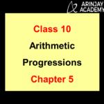 Arithmetic Progression Class 10
