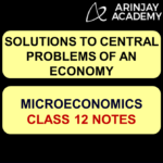 Solutions to Central Problems of an Economy