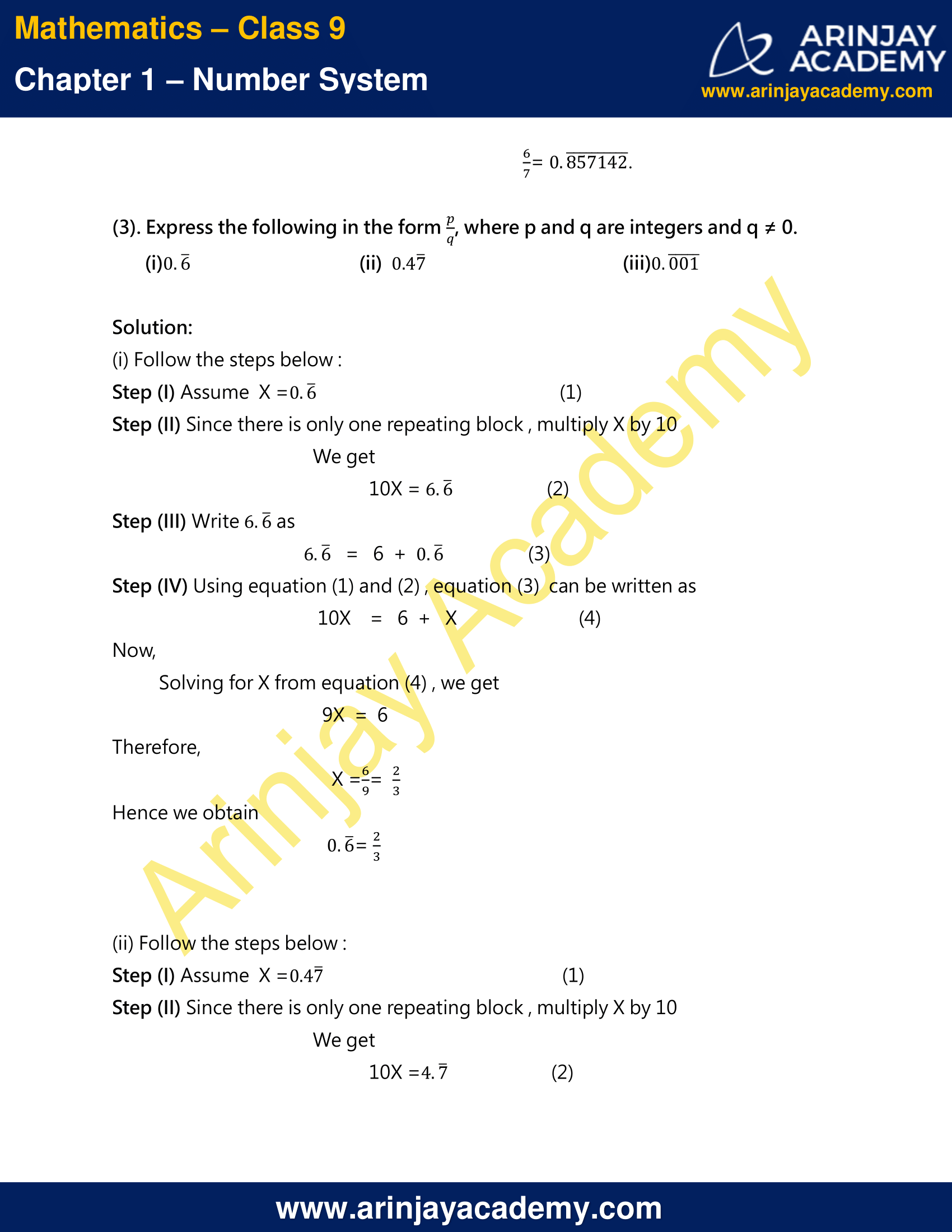 NCERT Solutions For Class 9 Maths Chapter 1 Exercise 1.3 image 5