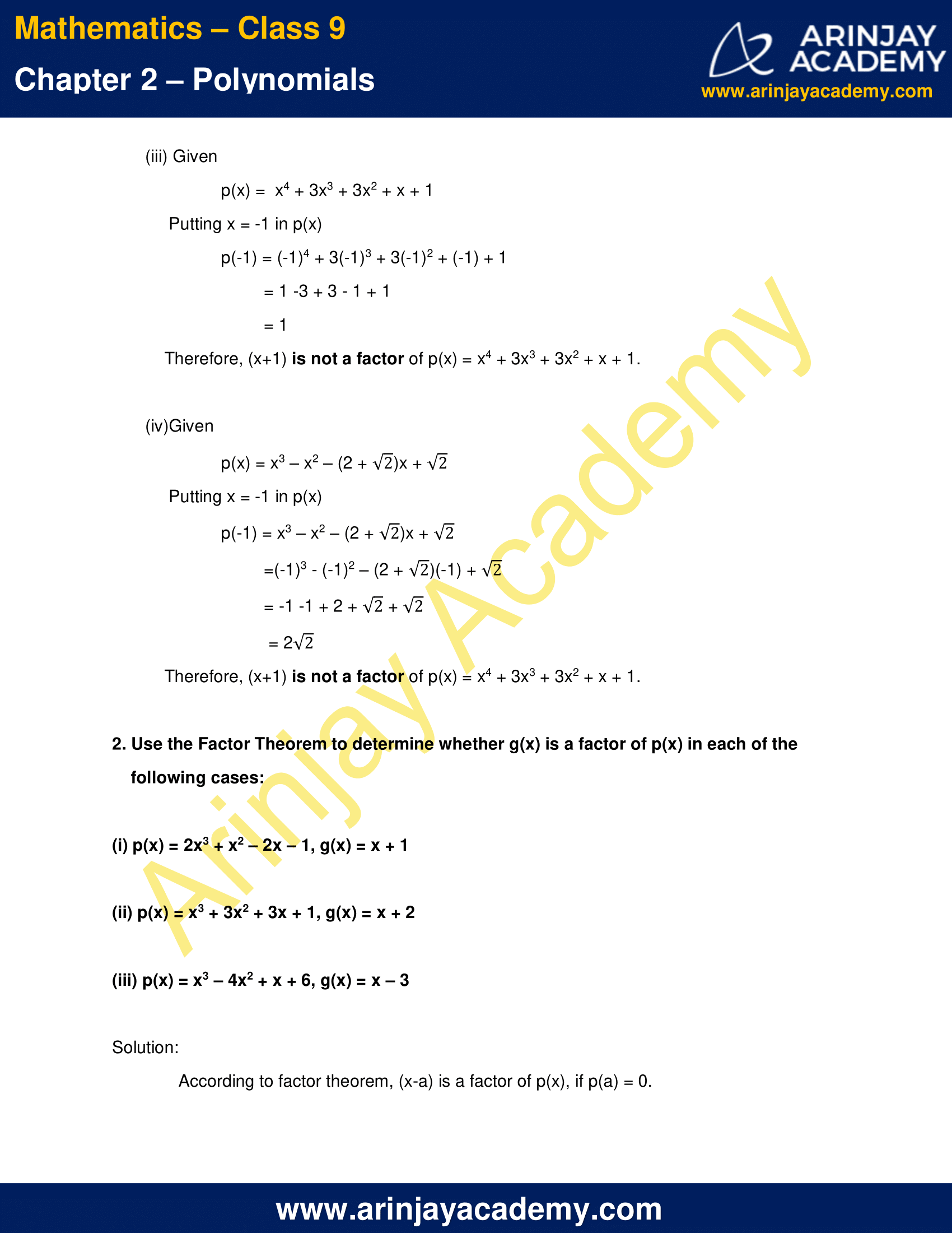 NCERT Solutions for Class 9 Maths Chapter 2 Exercise 2.4 image 2