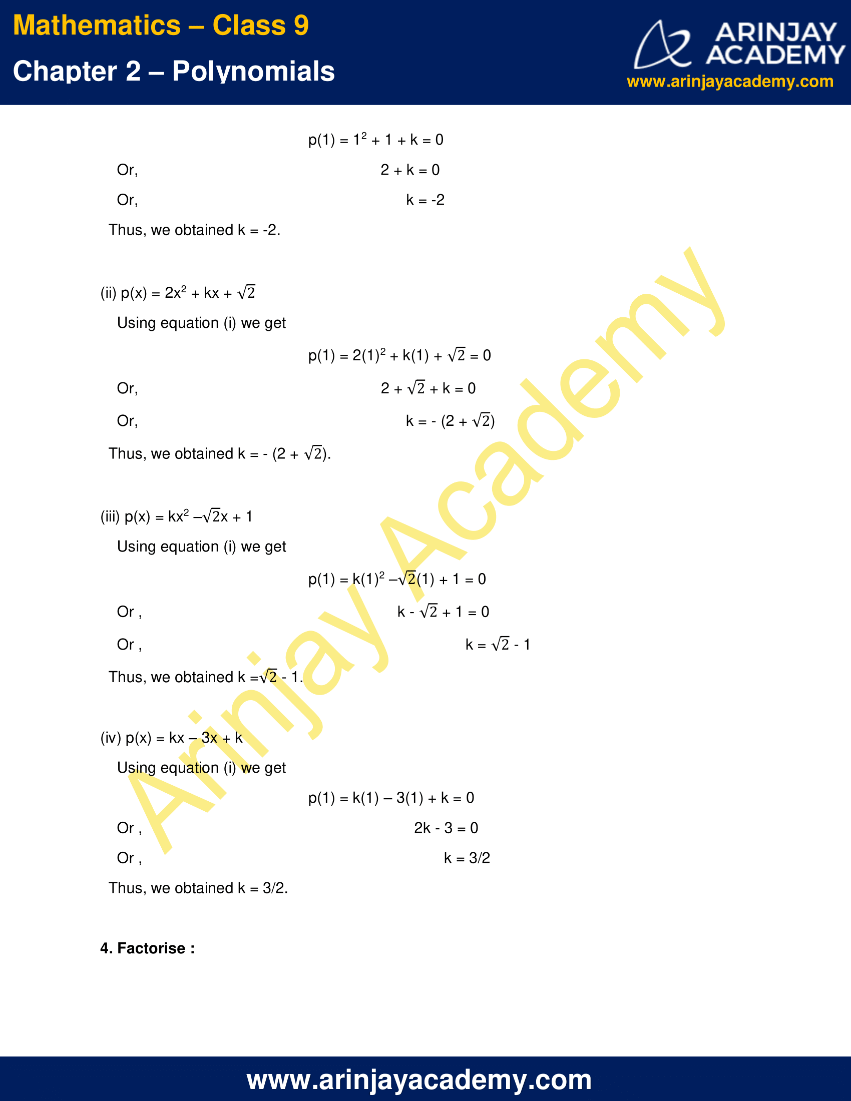 NCERT Solutions for Class 9 Maths Chapter 2 Exercise 2.4 image 5