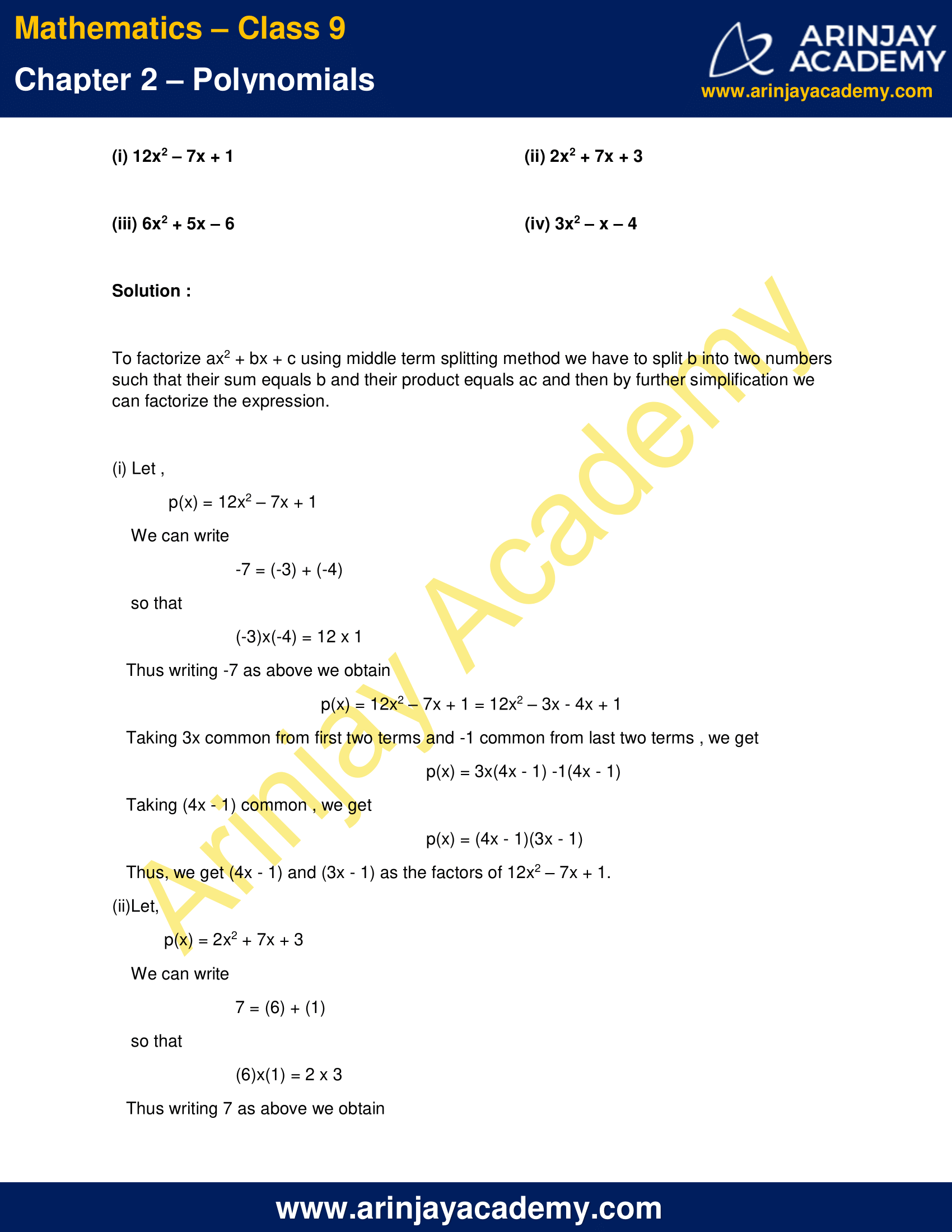 NCERT Solutions for Class 9 Maths Chapter 2 Exercise 2.4 image 6