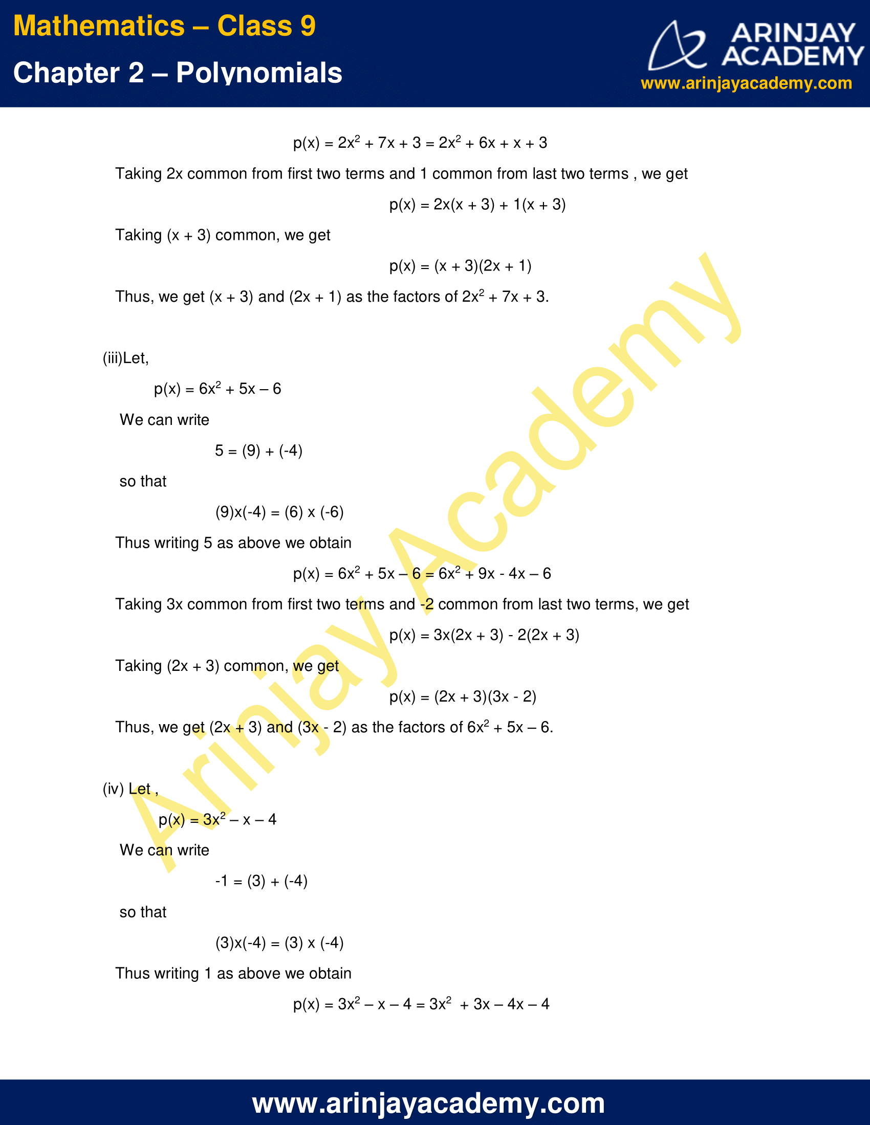 NCERT Solutions for Class 9 Maths Chapter 2 Exercise 2.4 image 7