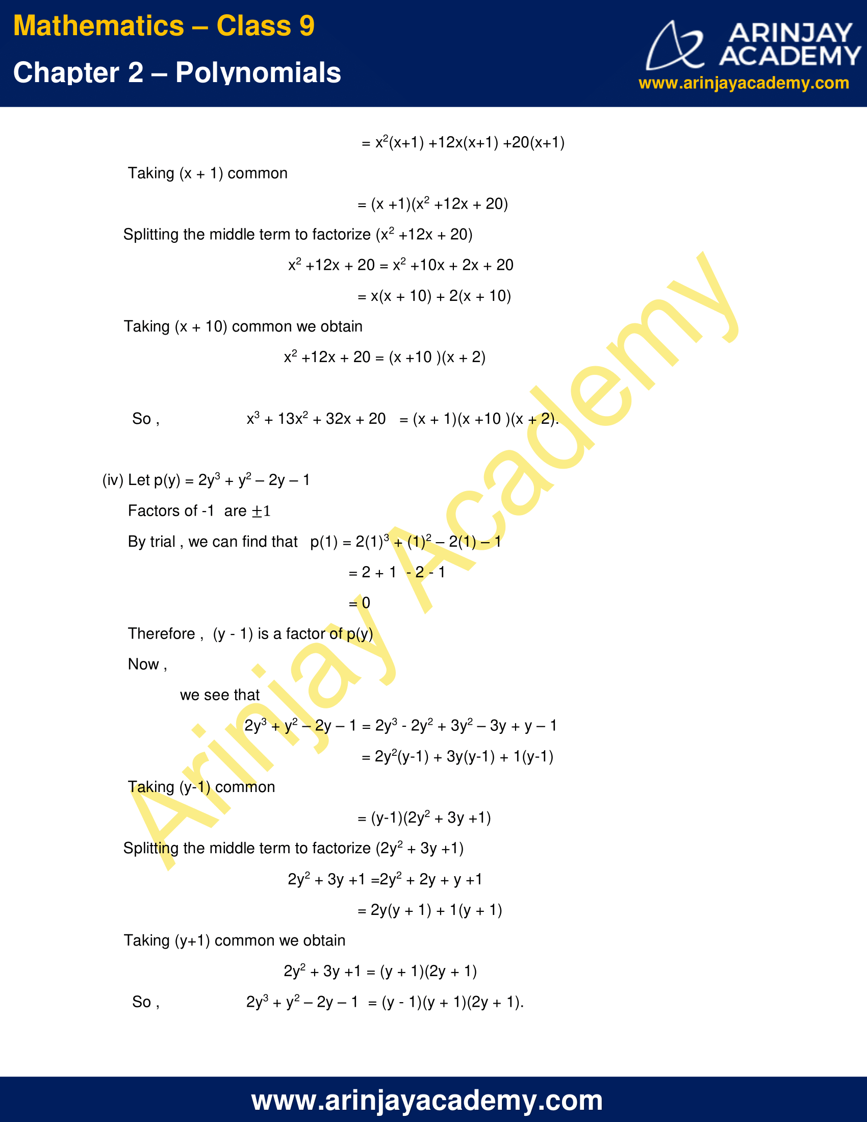 NCERT Solutions for Class 9 Maths Chapter 2 Exercise 2.4 image 10