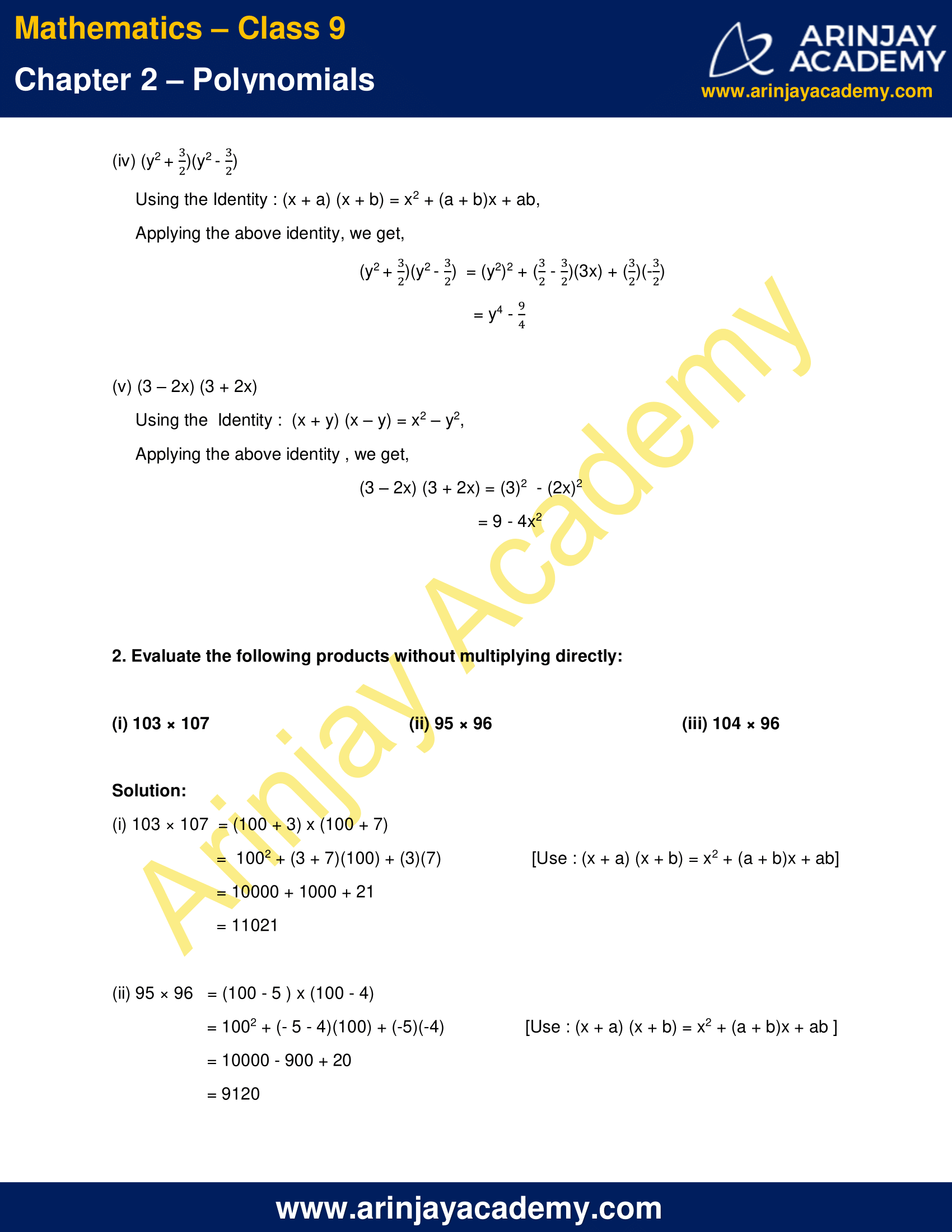 NCERT Solutions for Class 9 Maths Chapter 2 Exercise 2.5 image 2