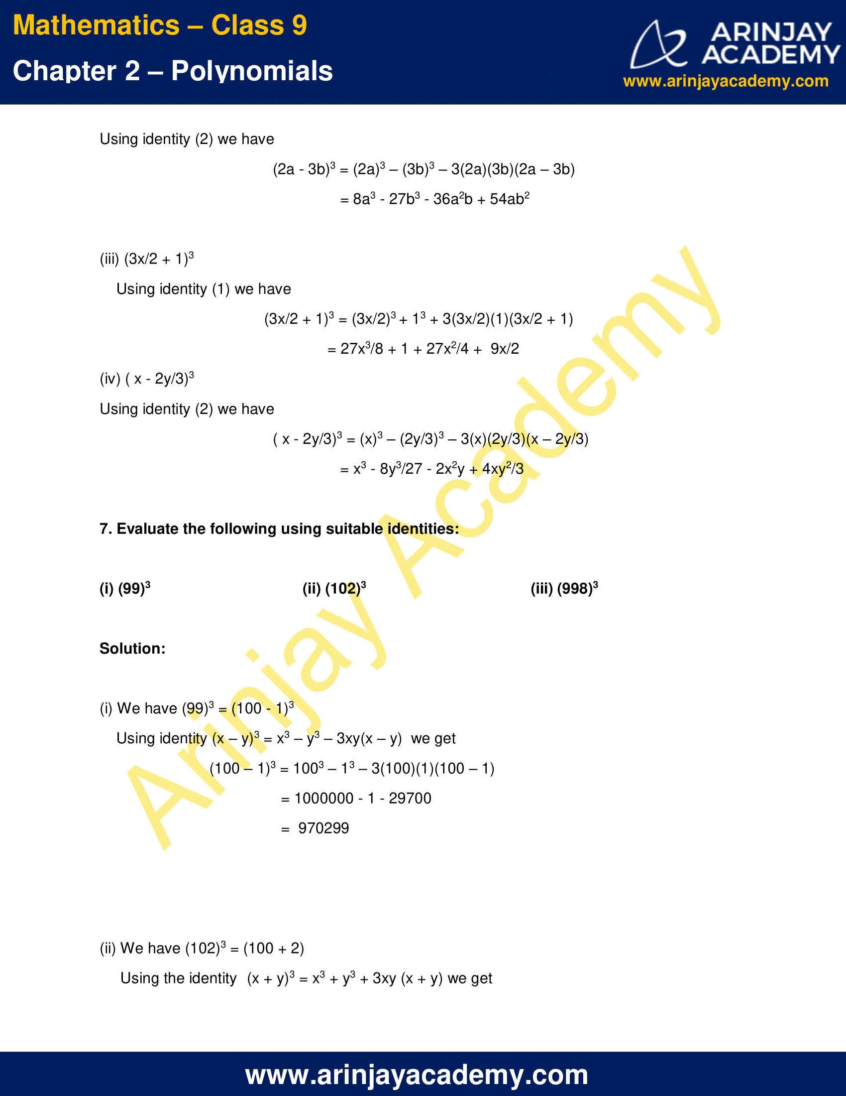 NCERT Solutions for Class 9 Maths Chapter 2 Exercise 2.5 image 6