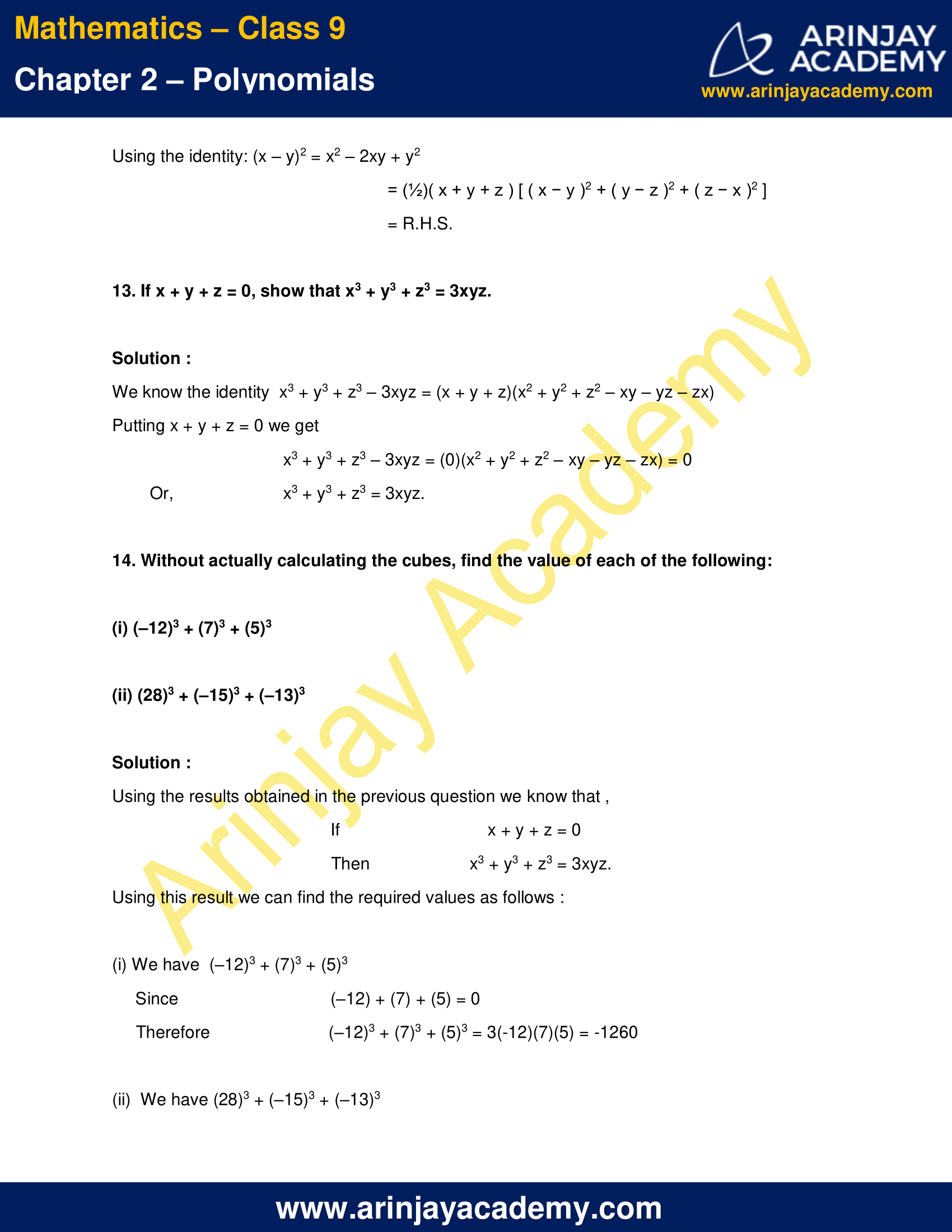 NCERT Solutions for Class 9 Maths Chapter 2 Exercise 2.5 image 11