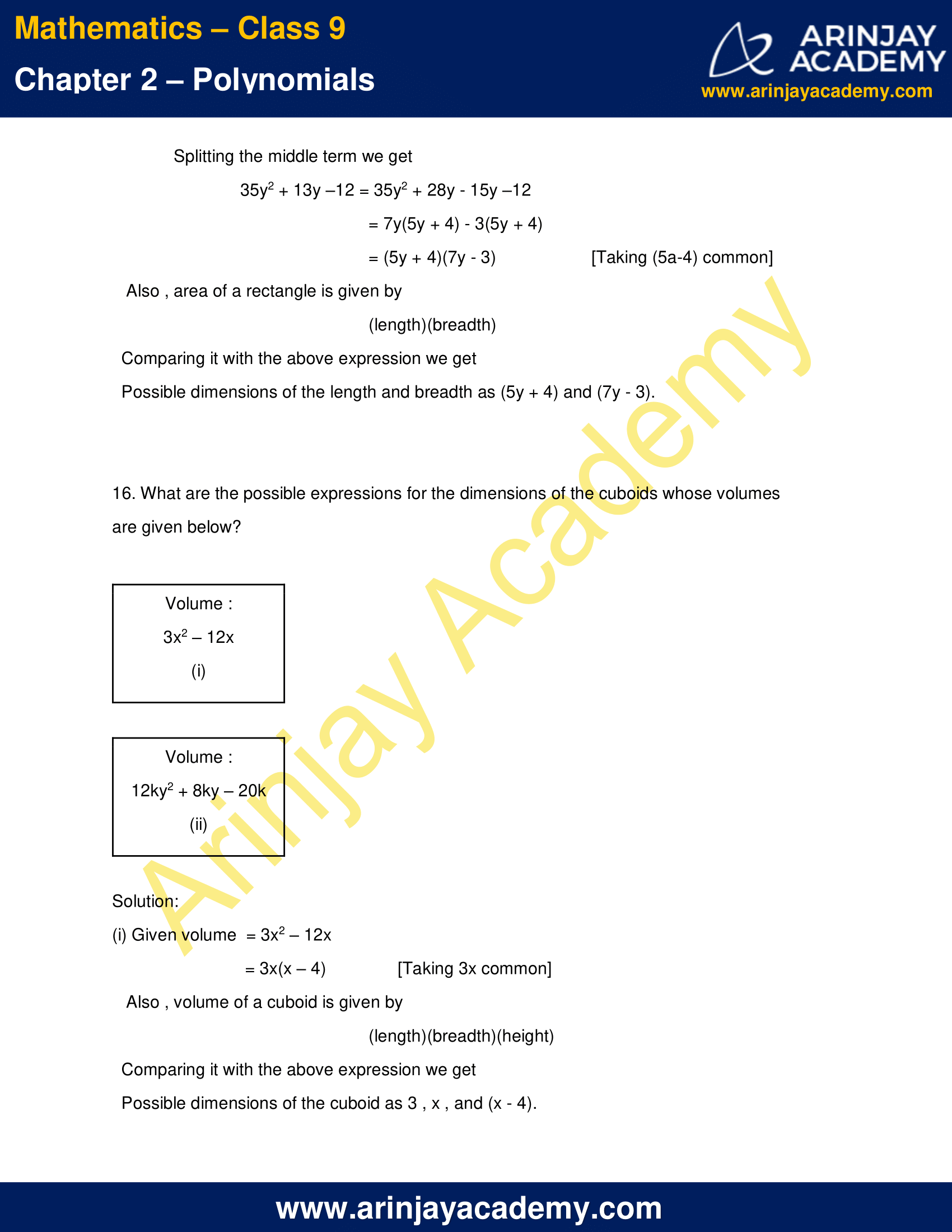 NCERT Solutions for Class 9 Maths Chapter 2 Exercise 2.5 image 13