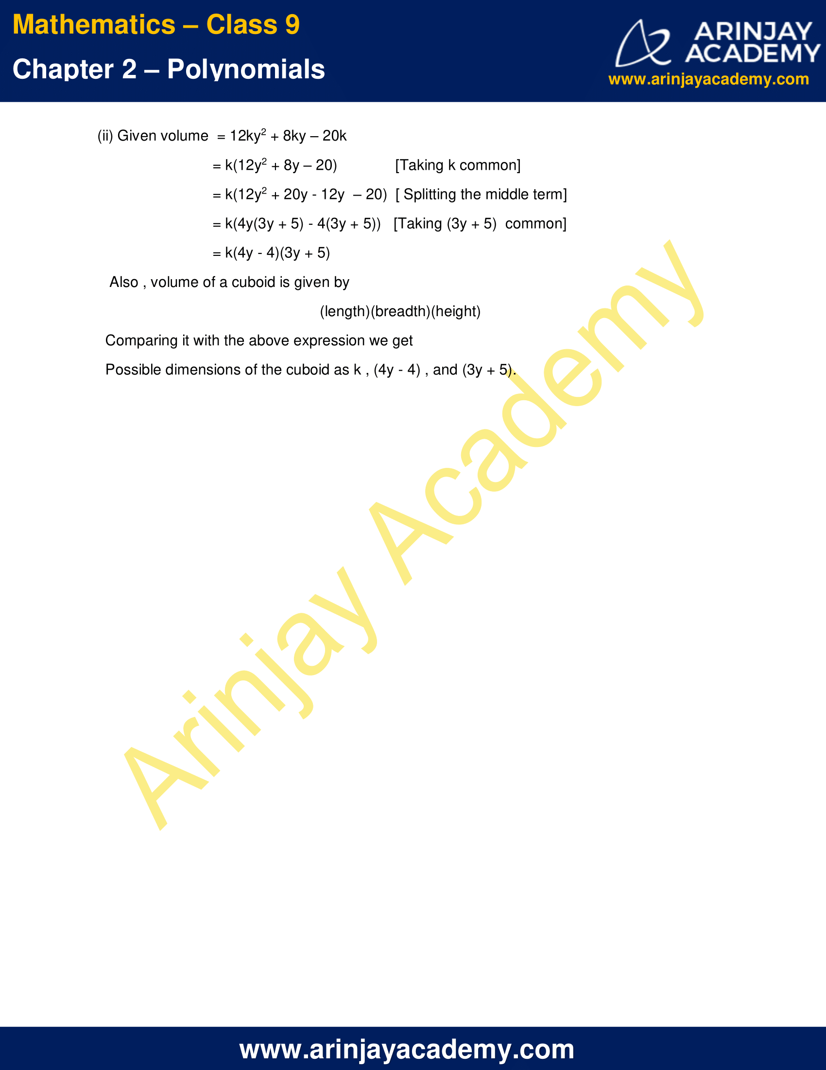 NCERT Solutions for Class 9 Maths Chapter 2 Exercise 2.5 image 14