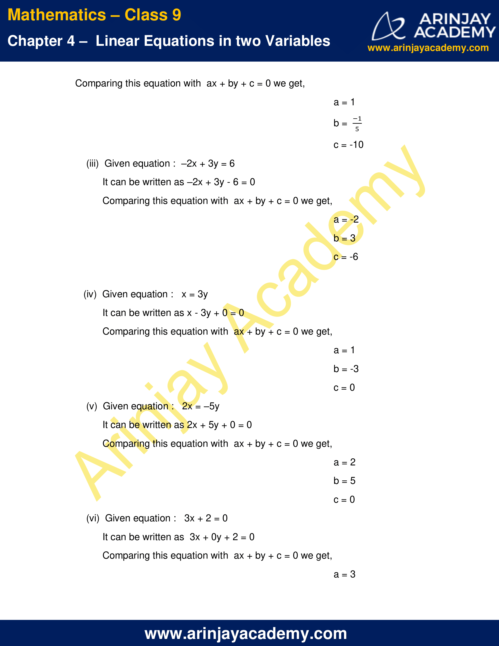 NCERT Solutions for Class 9 Maths Chapter 4 Exercise 4.1 image 2