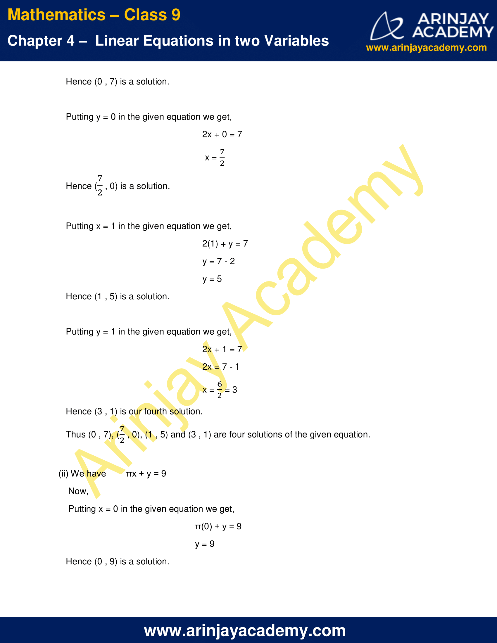 NCERT Solutions for Class 9 Maths Chapter 4 Exercise 4.2 image 2