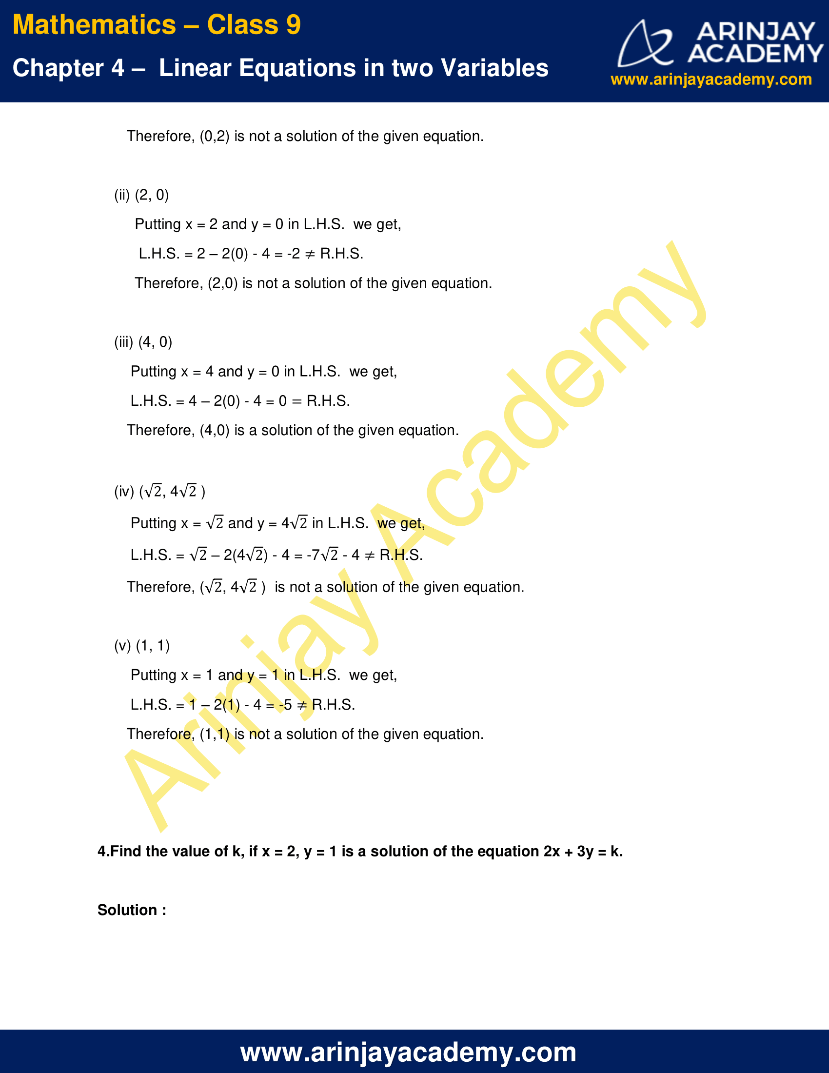 NCERT Solutions for Class 9 Maths Chapter 4 Exercise 4.2 image 5