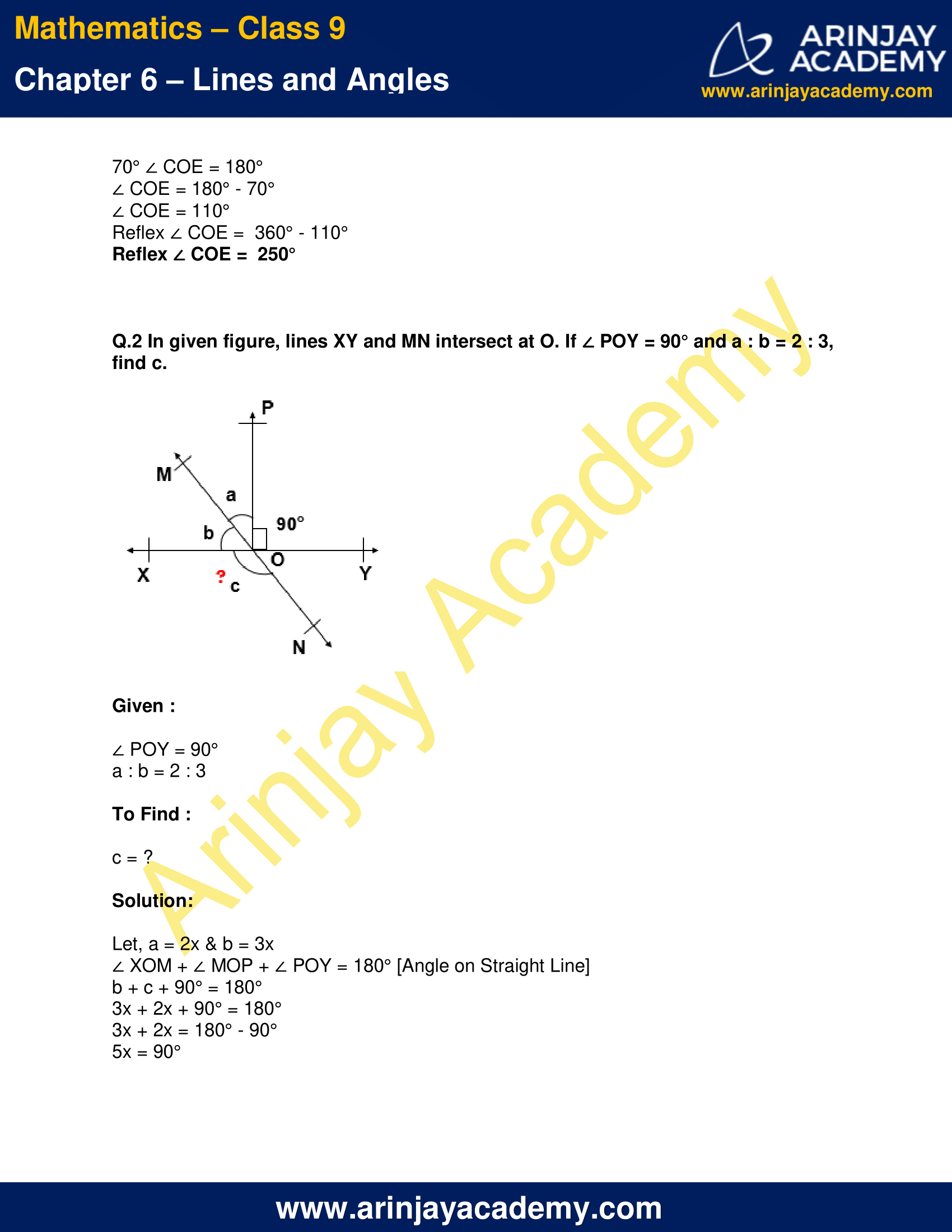 NCERT Solutions for Class 9 Maths Chapter 6 Exercise 6.1 image 2