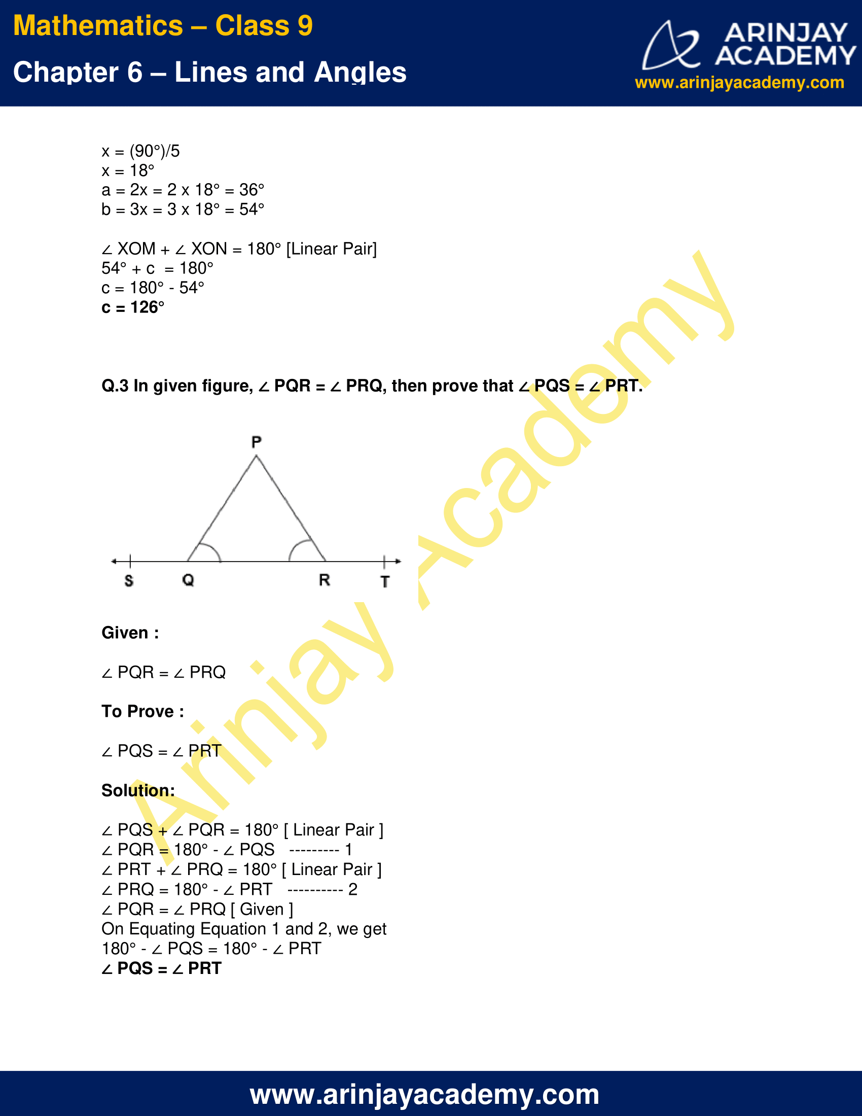 NCERT Solutions for Class 9 Maths Chapter 6 Exercise 6.1 image 3