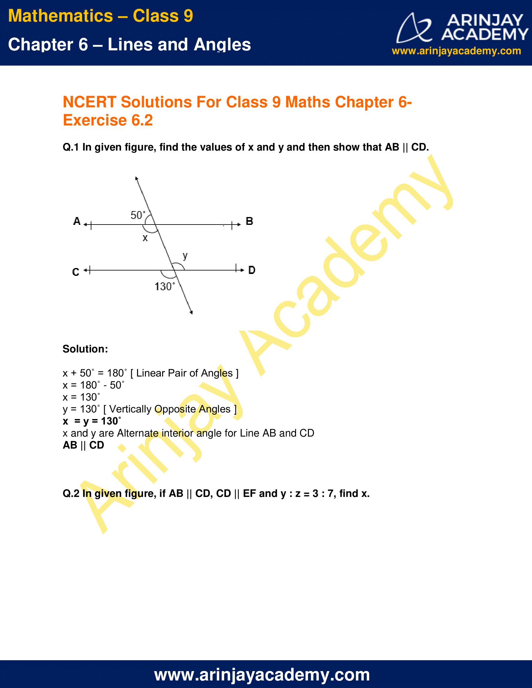 NCERT Solutions for Class 9 Maths Chapter 6 Exercise 6.2 image 1