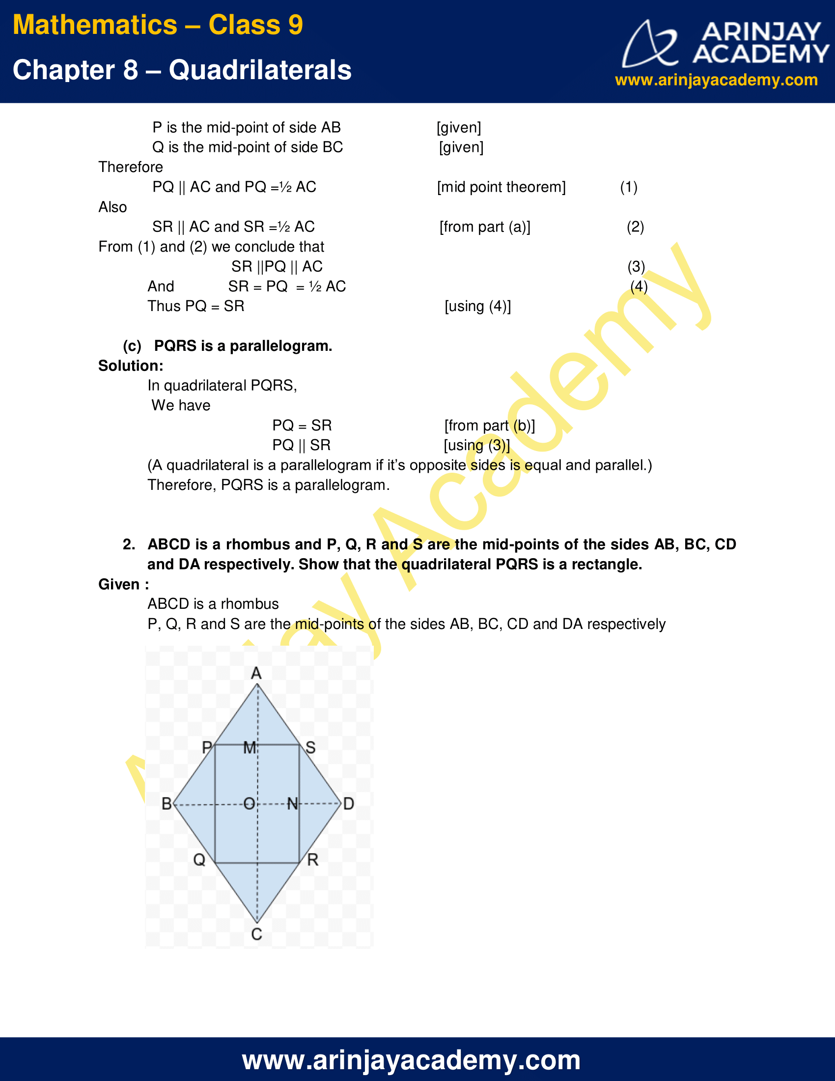 NCERT Solutions for Class 9 Maths Chapter 8 Exercise 8.2 image 2