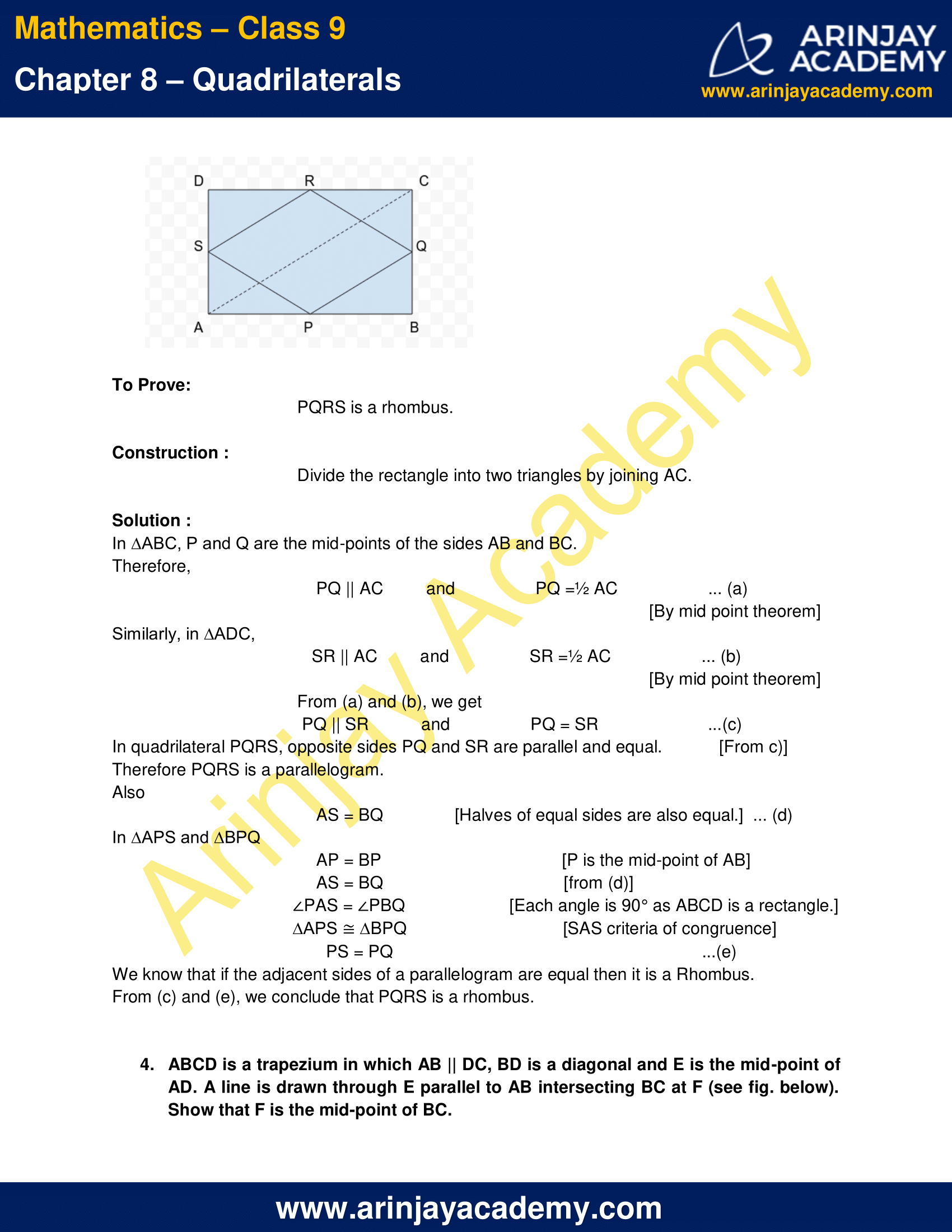 NCERT Solutions for Class 9 Maths Chapter 8 Exercise 8.2 image 4