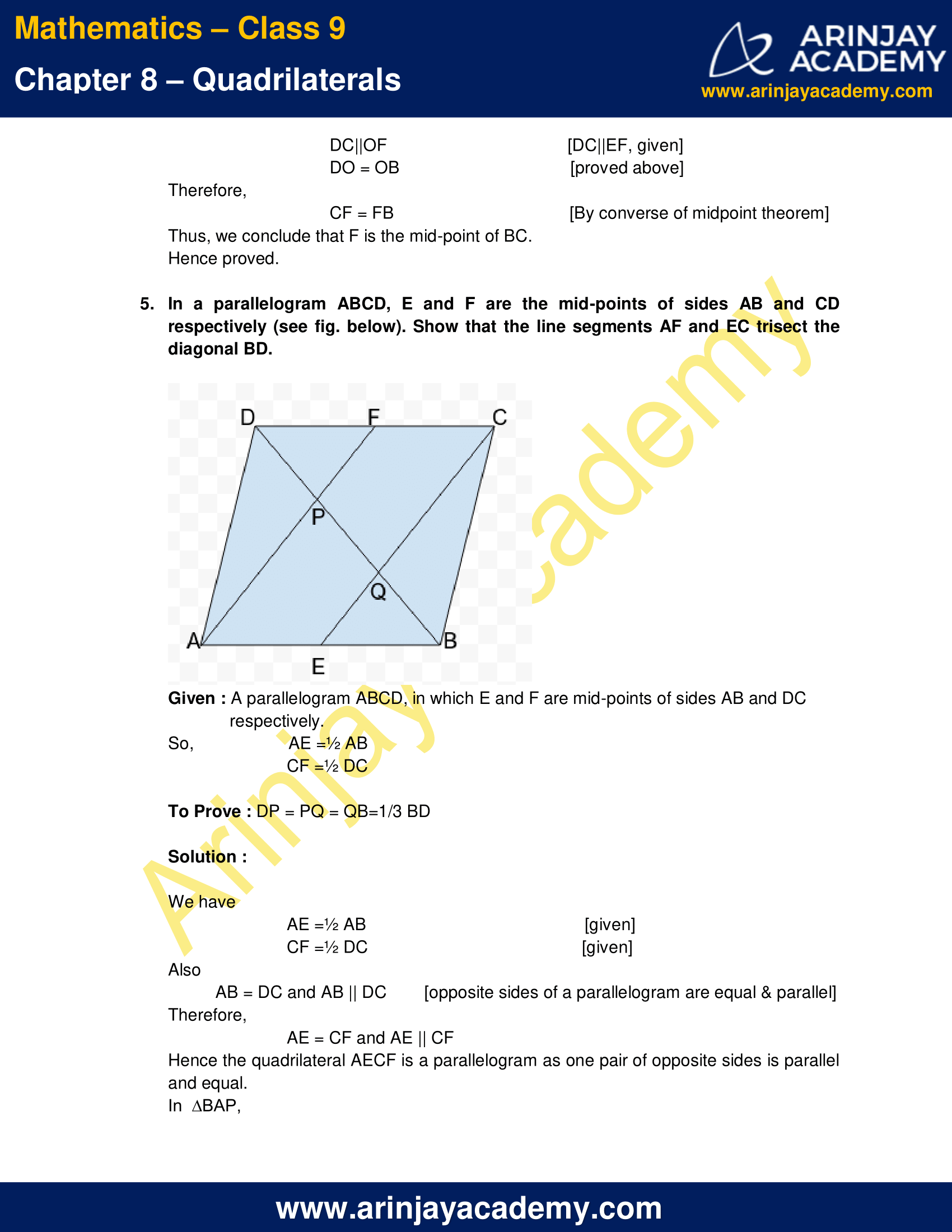 NCERT Solutions for Class 9 Maths Chapter 8 Exercise 8.2 image 6