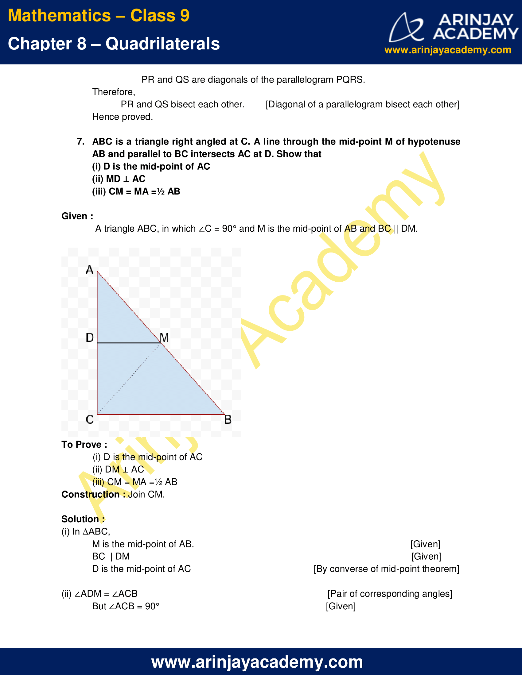 NCERT Solutions for Class 9 Maths Chapter 8 Exercise 8.2 image 8