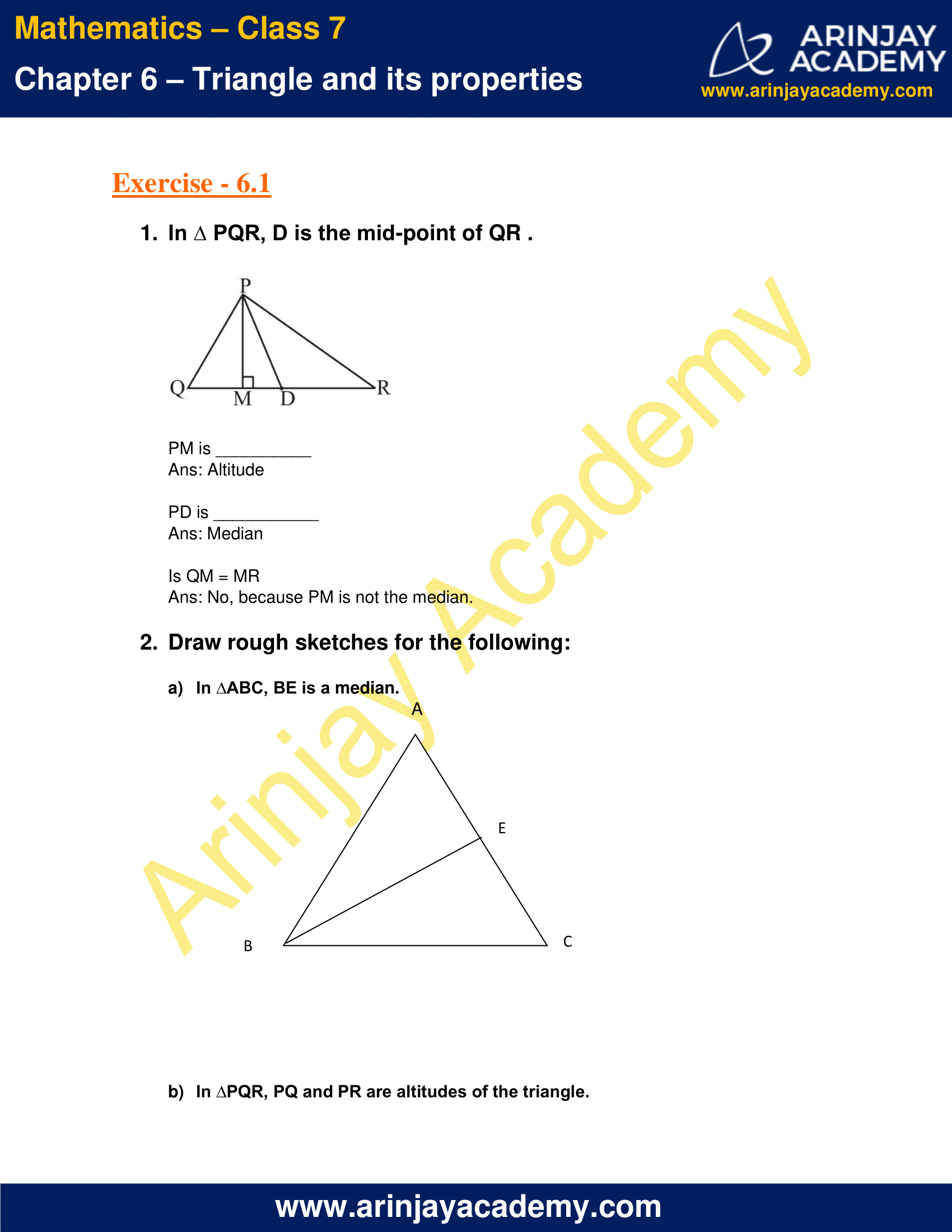 NCERT Solutions for Class 7 Maths Chapter 6 Exercise 6.1 image 1